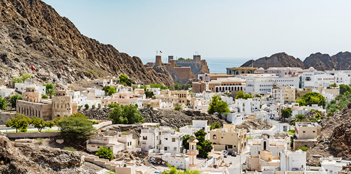 City of Old Muscat in Muscat, Oman.