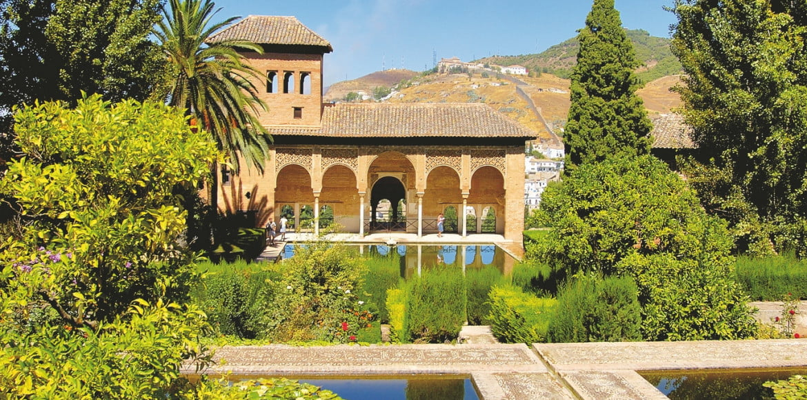 The palac of the Alhambra. Die Palas der Alhambra.